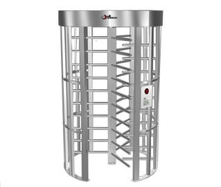 0.2S Electric Security Stainless Steel Full Height Turnstile with Light Alarm RS485