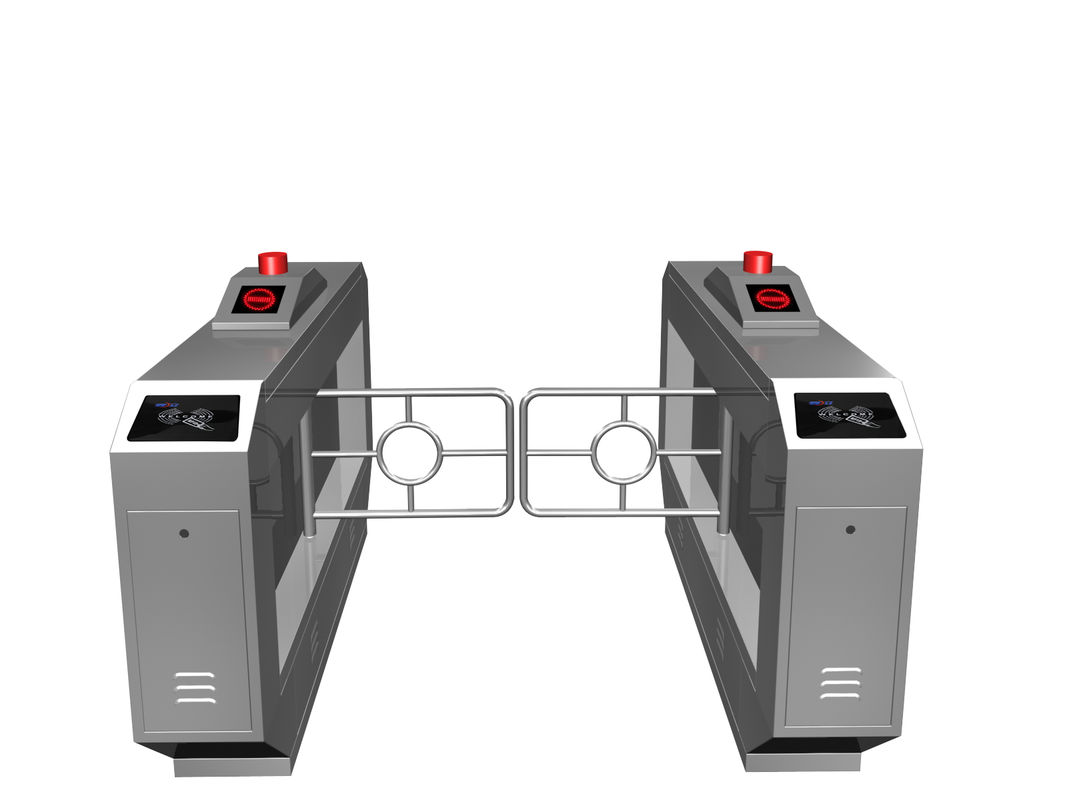 Magnetic Card One-way Direction Self-checking Automatic Swing Gate Barrier RS485 AC220V nhà cung cấp